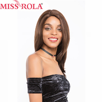 Мисс Рола волос предварительно цветные бразильский 100% волосы прямые Реми парики для Для женщин парики шнурка #2/4 бесплатная доставка