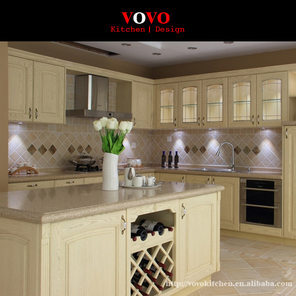 Ash full wooden kitchen cabinet with an island-in Kitchen ...
