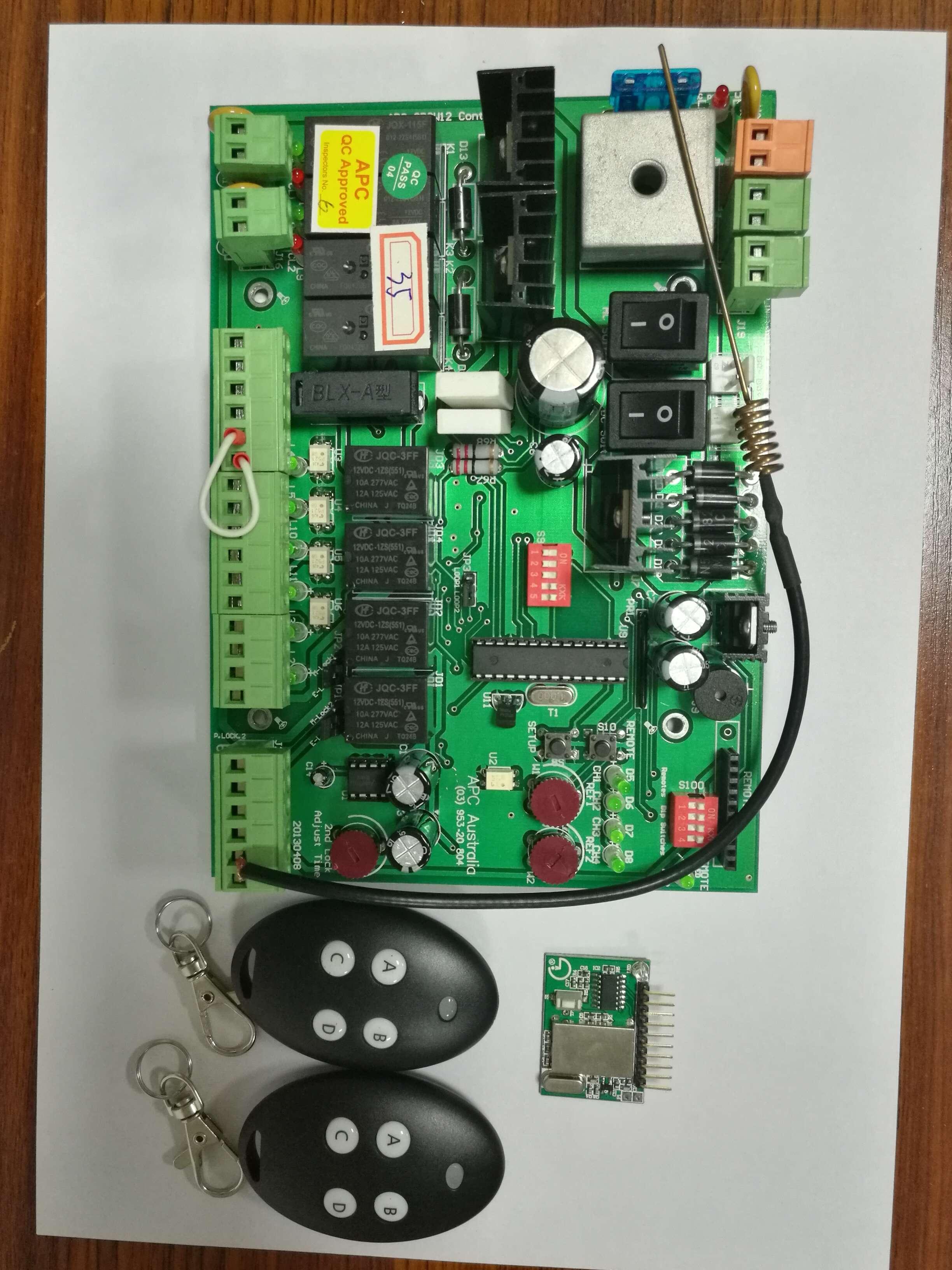 24v 12V Dc Swing Gate Opener DC Motor Control Unit PCB Controller Circuit Board