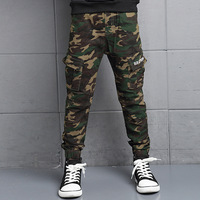 Fashion Cotton Children Cargo Pants Baby Boys Camouflage Trousers Kids Child Casual Pants Blue Green Army