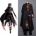 Code Geass Lelouch of the Rebellion Code Black in Ashford Full Set Halloween Cosplay Costume Custom Made For Men