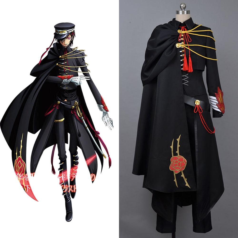 cosplay costume code geass lelouch of the rebellion code black in ashford full set halloween. Black Bedroom Furniture Sets. Home Design Ideas