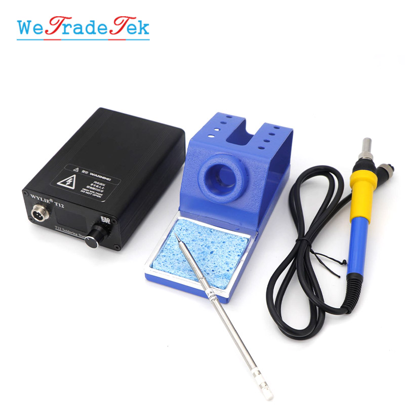 Digital T12 Solder Iron Station High Frequency Thermostat Welding Machine Automatic Sleep Fast Heating Electronic Welding Iron