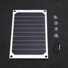 Cewaal 6W USB 2.0 Solar Power Panel Backup Battery Charger Outdoor Travel For Phones