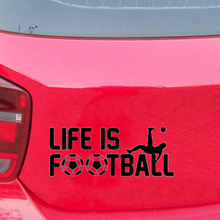 20*7.9cm Life Is Football Calcio Sport Cameretta Per Citazione Vinile Art Adesivo Cool Graphic Car Stickers