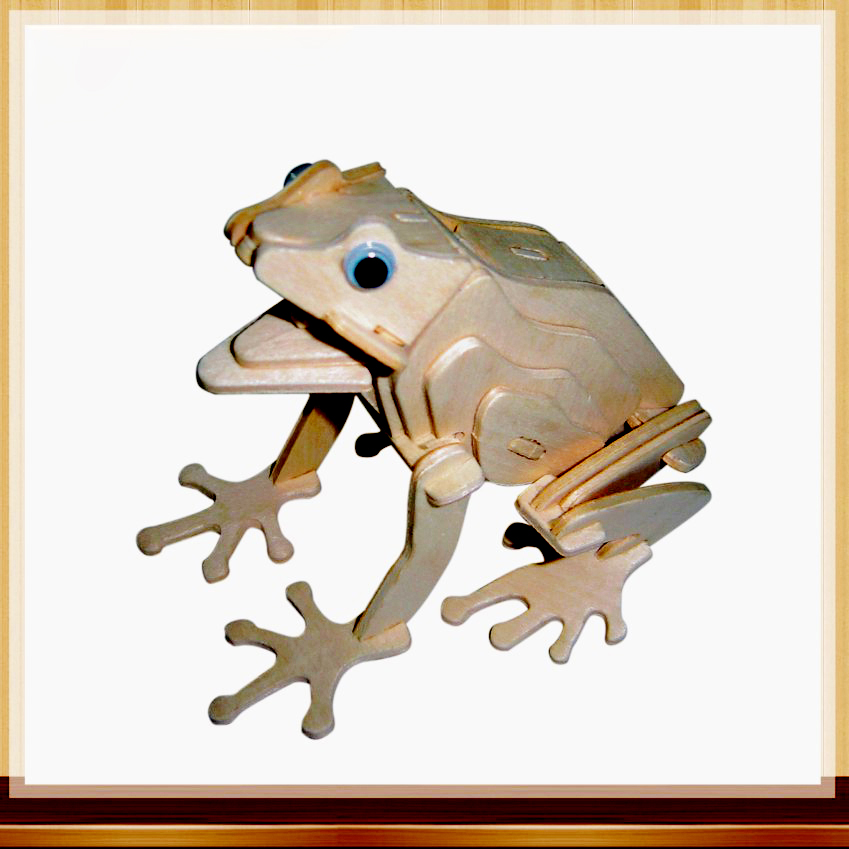 Toys For Children Of 3d Puzzle Diy Wooden Puzzle The Frog A Kids Toy Also Suitable Adult Game A Best Gift Of High Quality Wood