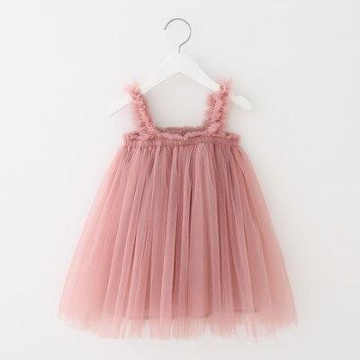VIDMID Baby Girls vest Dresses Cotton Brand summer Girls lace Dress Kids girls Clothes children's sleeveless clothing 7065 01 2