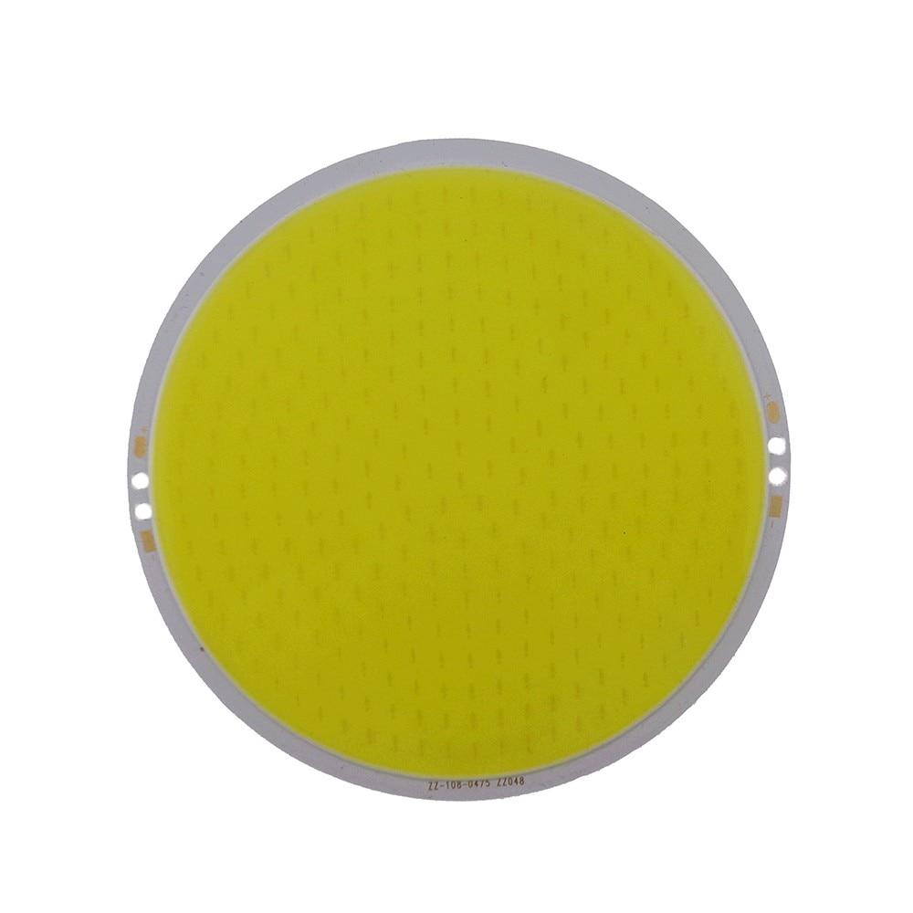 5 pcs Pure White Round COB Super Bright LED SMD Chip Light Lamp Bulb ff