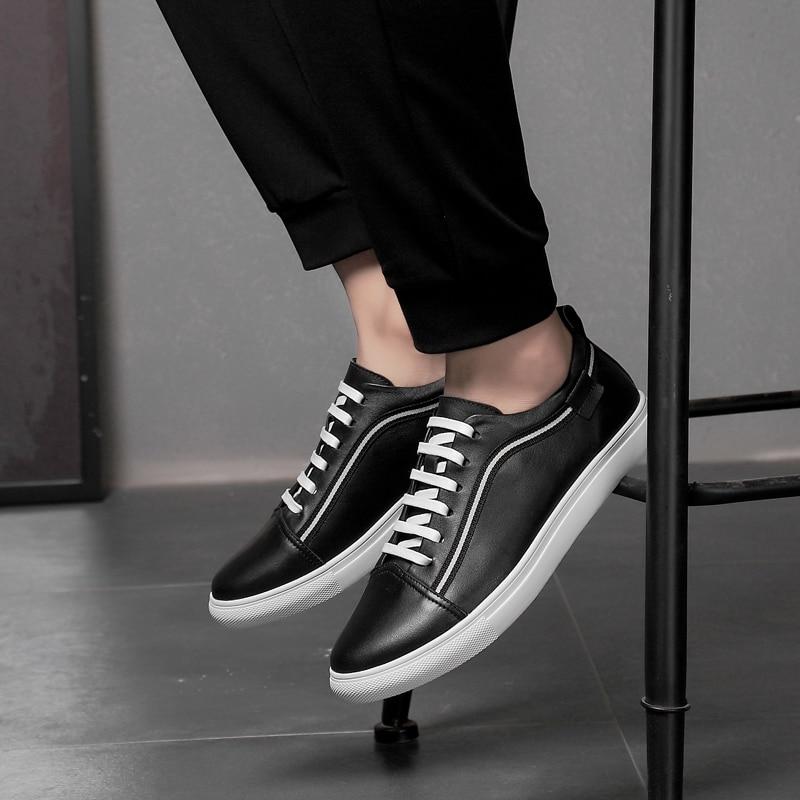 Tamanho Oxford Black 11 De Temporada Homens Em Couro Casuais W4 black Moda Livre Para Flats Sapatos Grande A Ao Ar Nova White Toda 12 white Genuíno Confortáveis grRgqw