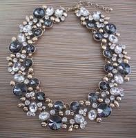 Массивное ожерелье-чокер с большим воротником, женское ожерелье со стеклянными кристаллами, стразы, женское этническое большое ожерелье Maxi...