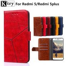K'TRY For Xiaomi Redmi 5 Case Luxury Flip Leather Case Card Pocket Wallet Phone Cover for Xiaomi Xiomi Redmi 5 Plus Fundas