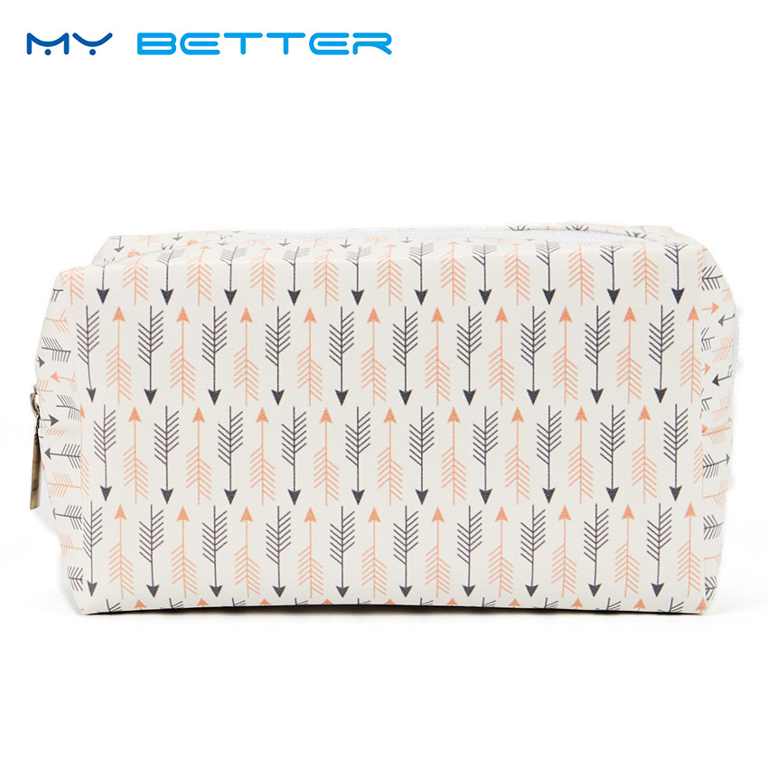 Cute Cactus Lady Zipper Cosmetic Bag PU Leather Travel Toiletry Storage Bag Pouch Women Trip Makeup Bag Neceser new women fashion pu leather cosmetic bag high quality makeup box ladies toiletry bag lovely handbag pouch suitcase storage bag