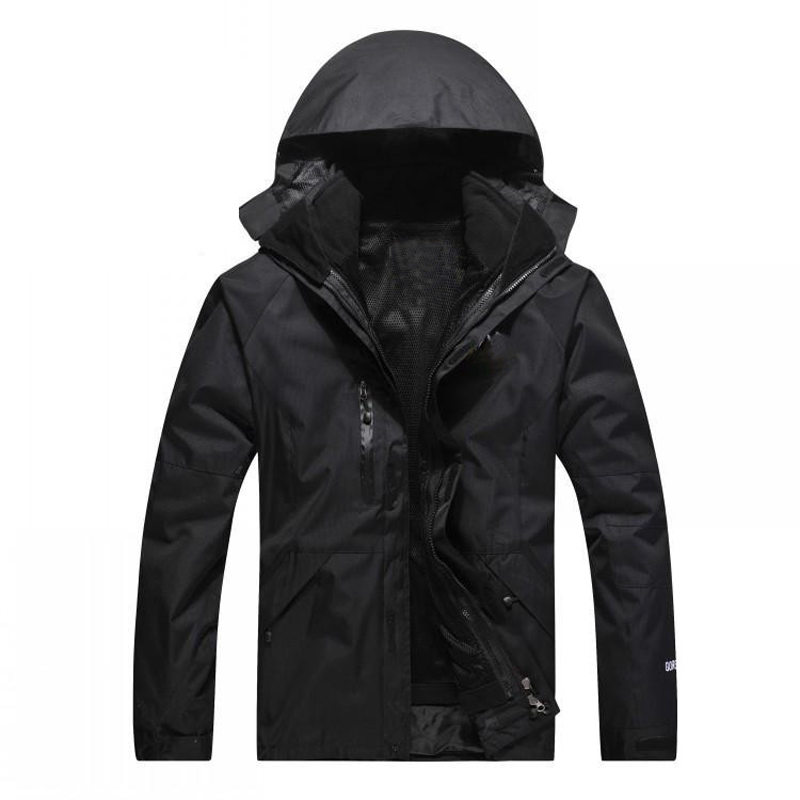 цены Vertvie 2017 Hooded Jackets Outdoor Windproof Waterproof Camping Hiking Jacket Men Women Thermal Detachable Fleece Softshell