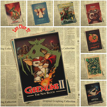 Gremlins Fantasy horror movie Kraft Paper Poster Bar Cafe High quality Printing Drawing core Decorative Painting(China)