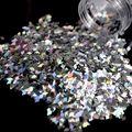 Decoración del Arte del clavo diamante en forma de Rombo Paillette Del Brillo 3D Leiguang Slice Lentejuelas DIY Tools Uñas Brillo Láser Plata LB100