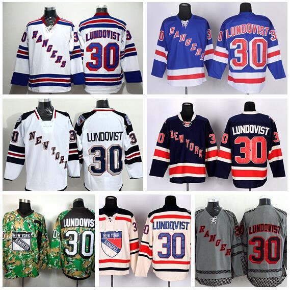 67de84520 ... Hockey New York Rangers 30 Henrik Lundqvist Jersey Winter Classic  Stadium Series Blue Beige White Camo Lundqvist ...