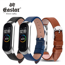 Leather Wrist Bracelet for Xiaomi Mi Band 4 Sport Strap watch wrist strap For xiaomi mi band 5 bracelet Miband 5 Strap cheap EASTAR CN(Origin) 18cm Watchbands New without tags For Miband4 Buckle