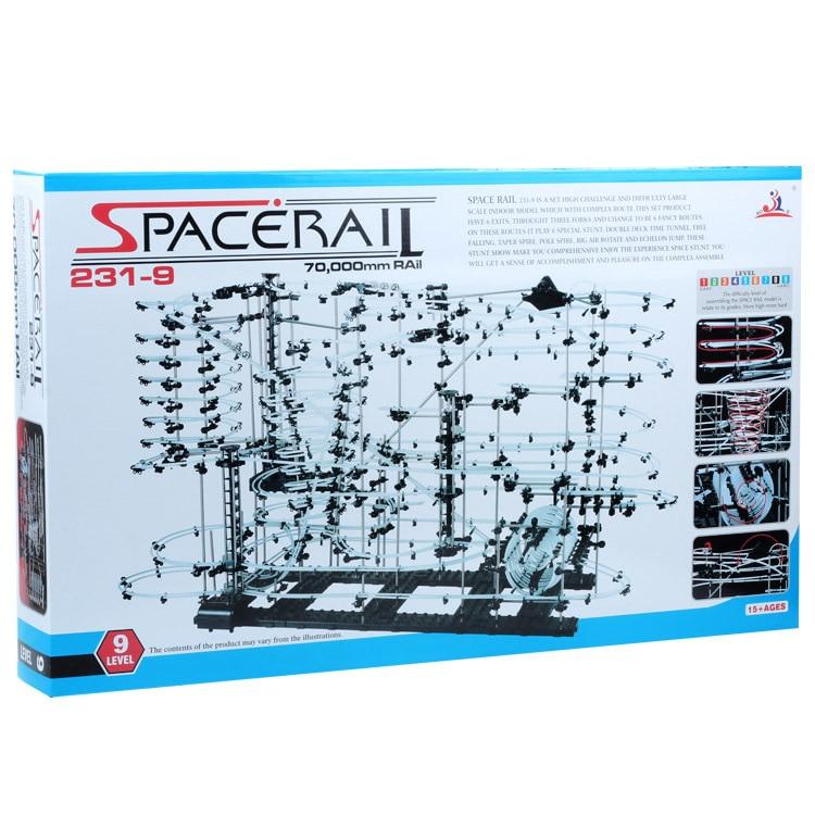 Уровень 9 (231-9) космический рельсовый набор, высококлассные американские горки, Intellgent Chanllenge, DIY игрушки, строительные блоки, Spacerail