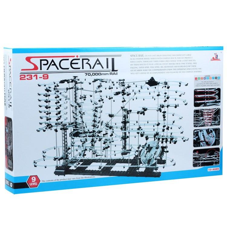 Niveau 9 (231-9) Espace Rail Ensemble, haute Classe Roller coaster, Intellgent Chanllenge, DIY jouets, Blocs de construction, Spacerail