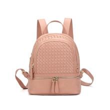 Модные Дамские туфли из PU искусственной кожи рюкзак ткань школьные сумки для девочек Повседневная Корейская рюкзаки студент сумка Mochilas Femininas