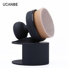 1pc UCANBE O! Circle Foundation Brush Cream Powder Makeup Brushes 35 Angle Micro Fine Beauty Oval Make Up Brushes with Holder