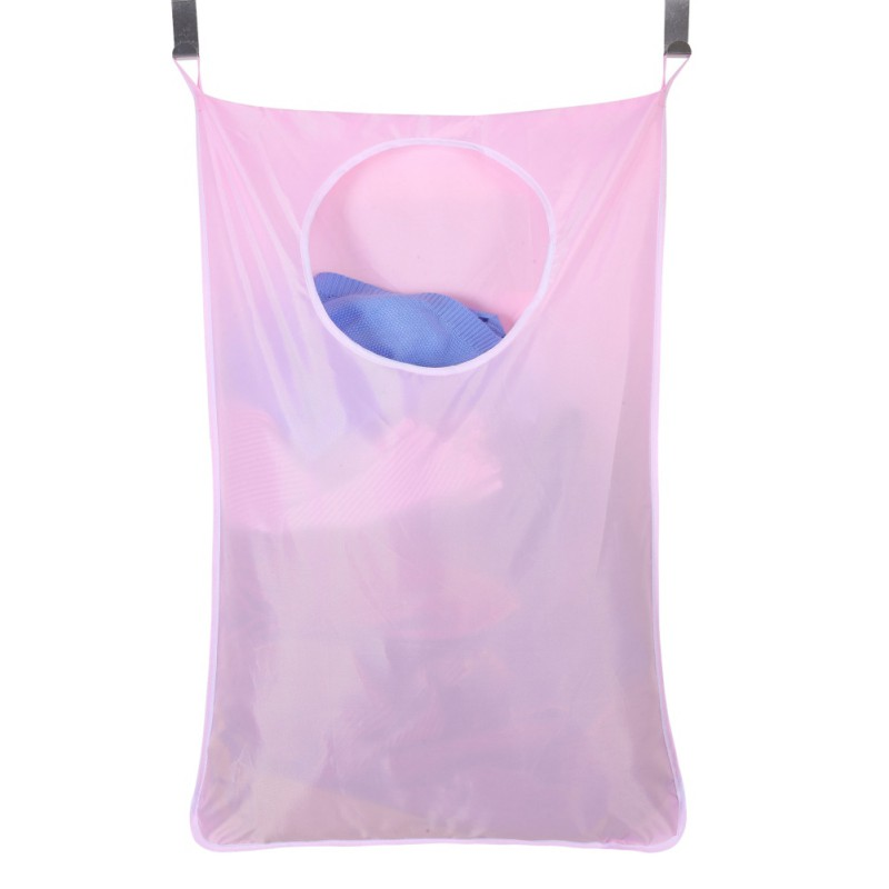 Waterproof Laundry Bag Extra Large Wall Mounted Laundry Organizer Bag With Stainless Steel And Suction Cup Hook Hot
