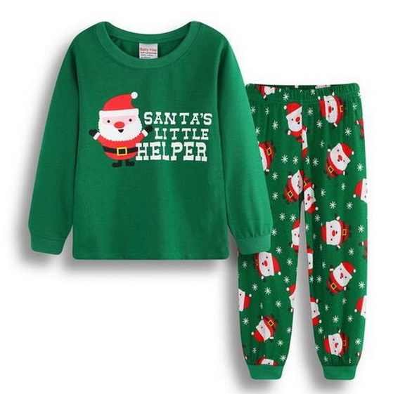 9a99de4f51 Detail Feedback Questions about A%A 55 Christmas Children Super Warm Cotton  Clothing Suit Baby Girls Boys Pyjamas T shirt Stripe Pants 2pcs Kids Pajamas  ...