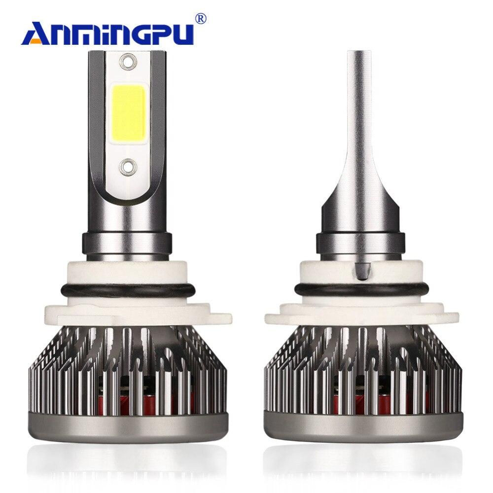 ANMINGPU 2 шт. 12000LM/пара H7 светодиодный H4 лампы H1 H3 светодиодный 9005/HB3 9006/HB4 H11 авто туман лампочки 6500 К УДАРА автомобиль свет