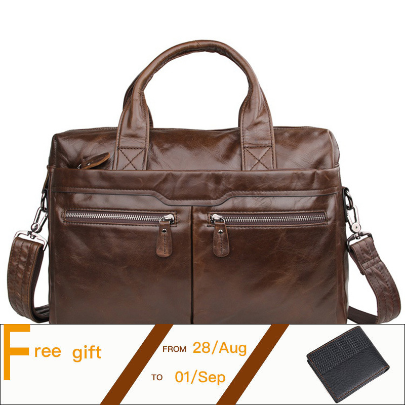 Cowhide Men Briefcase Genuine Leather Business Handbag Multifunctional Fashion Men Bag Fit For 15 Inch Laptop PR057122A top layer genuine cowhide coffee classic men s leather briefcase business handbag fit for 15 laptop bag pr577247b 1