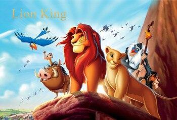 happy birthday cartoon lion king simba animals rock baby child photo background photography backdrops quality vinyl