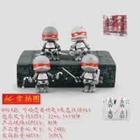 4pcs/set Cute Turtles Warrior Diy Hero Boy Gift Animiation Action Figure Doll House Kids Toys Miniature Model For Decoration