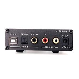Image 3 - KGUSS DAC K3 MINI HiFi 2.0 Digital Audio Decoder DAC Ingresso USB/Coassiale/Ottica di Uscita RCA/Amplificatore Per Cuffie 24Bit/96 khz DC12V