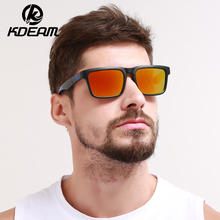 Kdeam 2019 Sunglasses Men Reflective Coating Square Polarized Sun Glasses Women Brand Designer Oculos De Sol