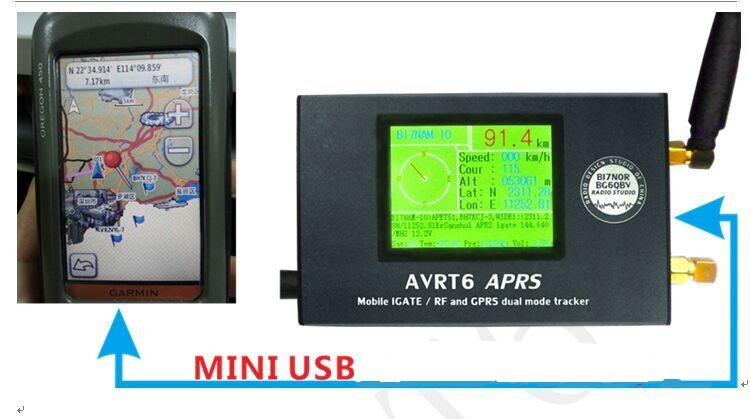 AVRT6 Mobile IGate/RF + GPRS Dual Mode APRS Tracker Bluetooth APRSDroid-in  Walkie Talkie from Phones & Telecommunications