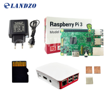 H Raspberry Pi 3 Model B starter kit-pi 3 papan / pi 3 kasus / Eropa power supply / 16 G kartu memori / heat sink