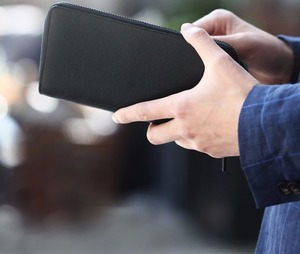 Image 2 - גבוהה באיכות Youpin 90Fun Mens עסקי ארנק כרטיס מחזיק ארנק קלאסי ארנק ארוך עור פרה עור שחור רוכסן אנטי שריטה