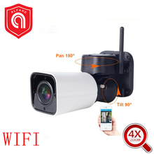 Full HD WiFi PTZ IP Bullet Camera Outdoor 4X Optical Zoom 2MP 1080p Wireless IR SD Card Slot Two-Way Audio CCTV