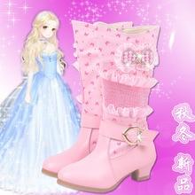 Новые зимние девушки сапоги непромокаемые ботинки снега сапоги детские для девочек зима теплая обувь детская обувь принцесса обувь 16946