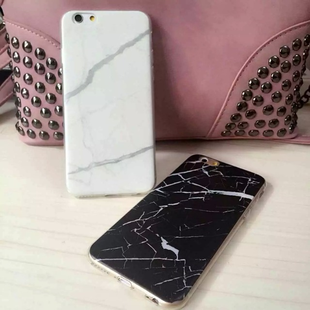 los angeles 5a1f5 862e1 US $6.19 |New Design Marble Crack Print Phone Cases for iPhone 6/6Plus  Black & White Polish Protective Back Cover on Sale on Aliexpress.com |  Alibaba ...