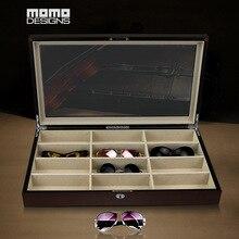 Деревянная коробка для очков 12 футляр для солнцезащитных очков верхнее окно для женщин Чехол для очков коробка Домашняя Коллекция/подарок на день рождения
