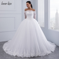 Vestidos De Noiva Ball Gown Wedding Dress Long Sleeves Wedding Dresses 2016 Pearls Tulle Vestido De