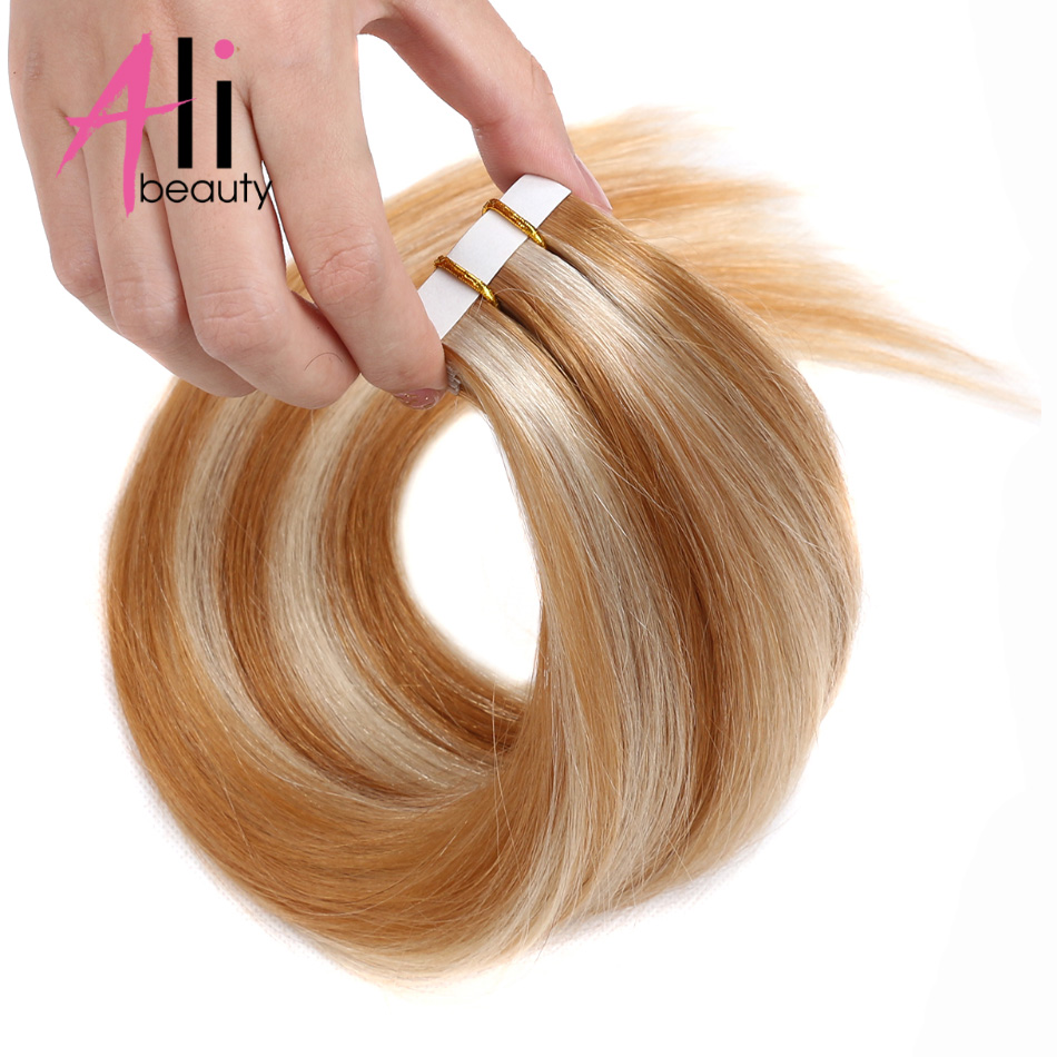 Ali Beauty Tape In Human Hair Extensions 16 20 Brazilian Straight