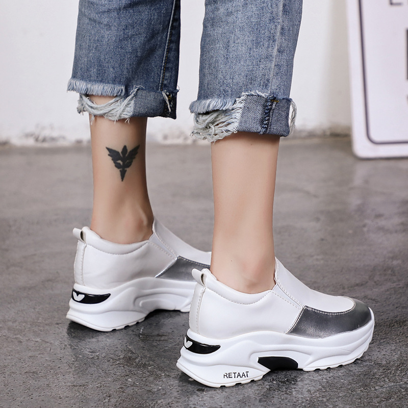 DORATASIA New Height Increasing Mixed Colors Round Toe Flat Platform Shoes Woman Casual Soft Spring Autumn Flats Big Size 35-40 2