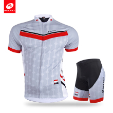 Nuckily summer short sleeve Cycling Jersey and professional cycling short suit for men  AJ233 BK294 nuckily summer mens bicycle apparel breathable phoenix eyes long sleeve cycling jersey with tights suit mc010md010