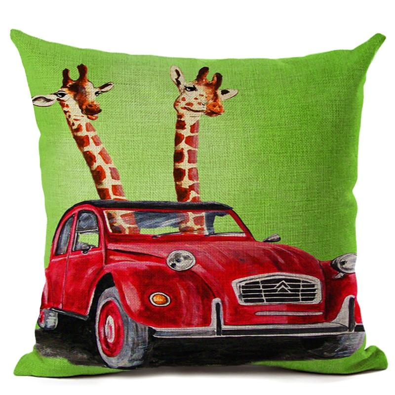 Amerikan Dizayn Kətan Yastıq Yastığı Yastıq Rəngarəng Züraf - Ev tekstil - Fotoqrafiya 5