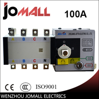 Jomall 100amp 220V/ 230V/380V/440V 4 pole 3 phase automatic transfer switch ats