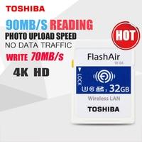 TOSHIBA FlashAir W 04 Wifi Memory Card 90M/s SD Card SDHC SDXC Class 10 U3 Tarjeta sd carte 32GB 64GB sd For Digital Camera
