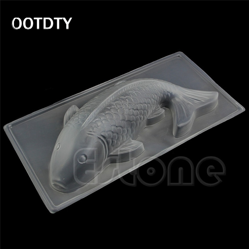 Ootdty hot sale 1pc diy 3d large koi fish plastic jelly for Plastic koi fish