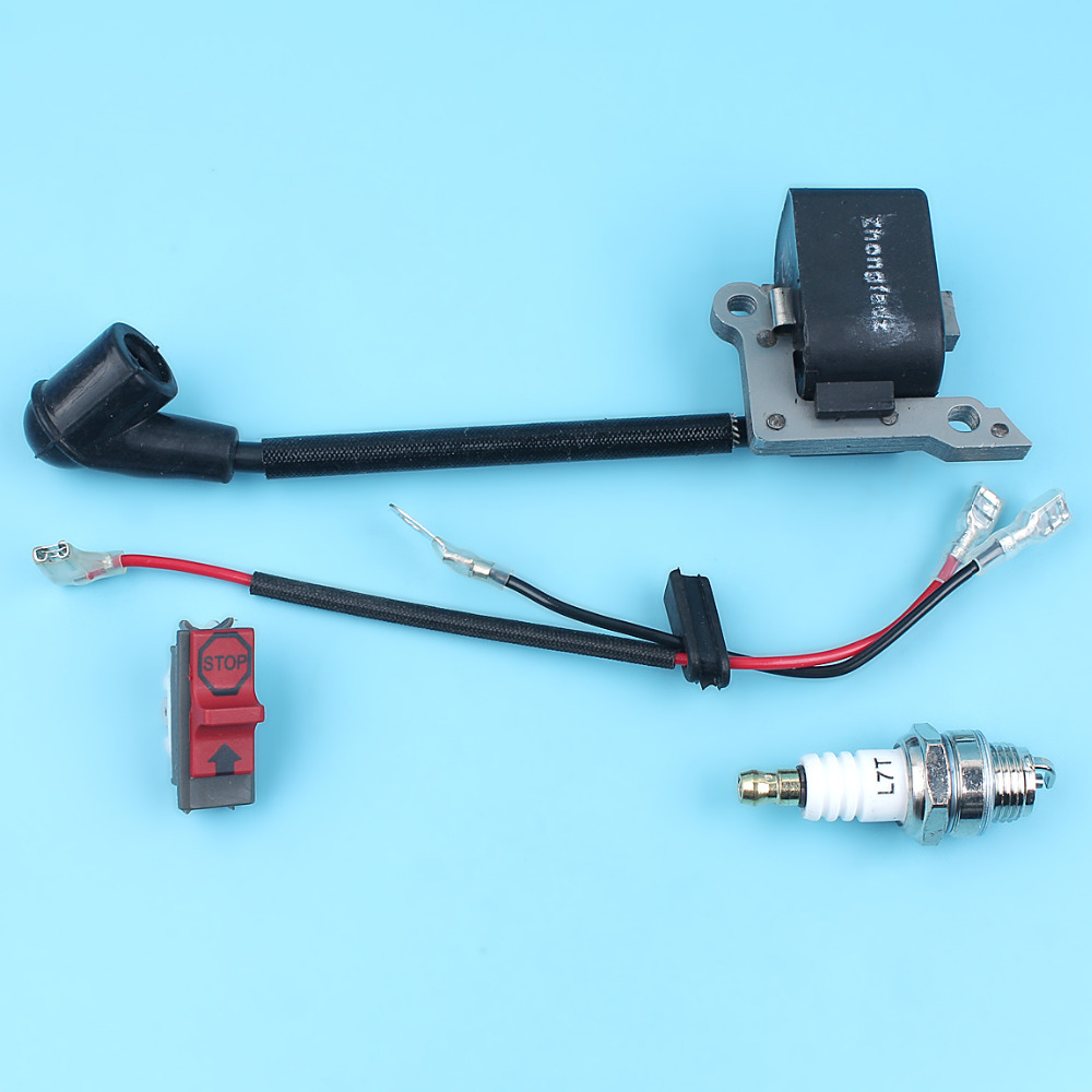 Ignition Coil On/Off Stop Kill Switch Spark Plug Kit For HUSQVARNA ...