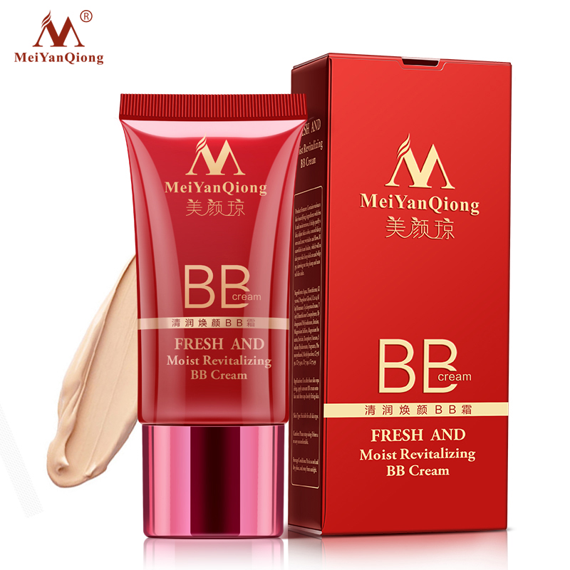 MeiYanQiong Fresh And Moist Revitalizing BB Cream Makeup Face Care Whitening Compact Foundation Concealer Prevent Bask Skin Care цена 2017